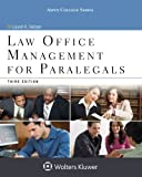 Law Office Management for Paralegals (Aspen College Series)