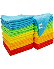 S&T 968601 Microfiber Cleaning Cloths, 50 Pack