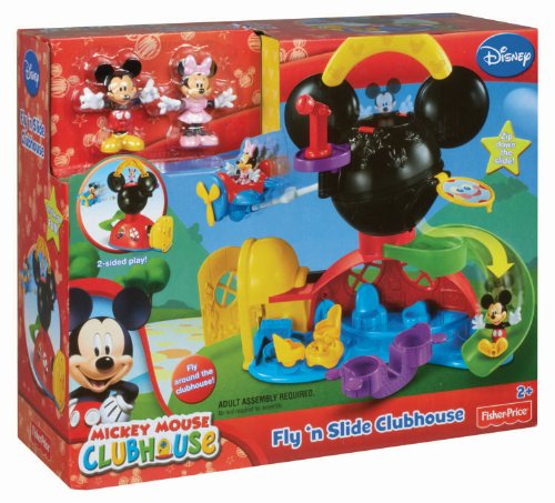 Fisher price disney mickey mouse fly n slide clubhouse import it all - Juguetes la casa de mickey mouse ...