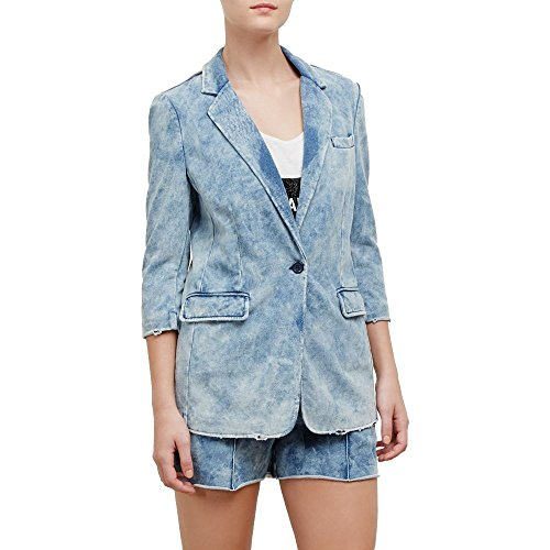 Kenneth Cole New York Classic Acid Wash Blazer - Women's - Indigo - Purple Acid Wash