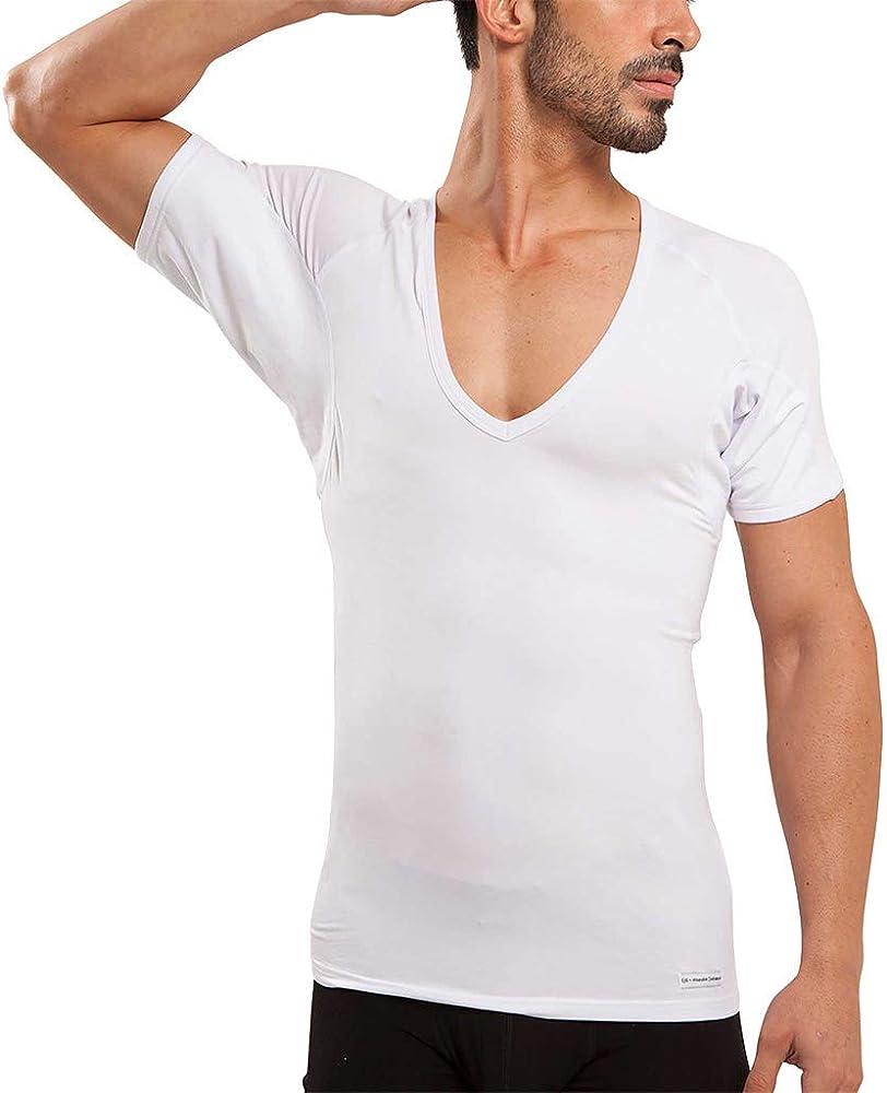 Camiseta Interior de Hombre a Prueba de Sudor Eji, Cuello de Pico ...