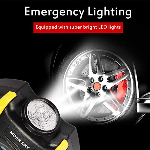 Tire Inflator, Electric Compressor Portable Digital up to 150PSI Lighting and 10ft Cable Bicycle, Ball and Other