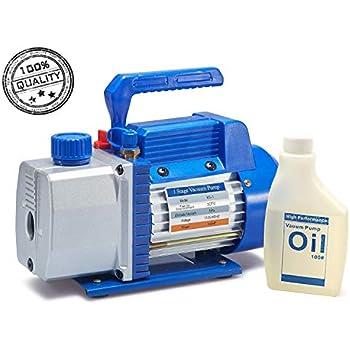 Amazon Com Electric Refrigerant 2 5cfm Vacuum Pump 1 6hp