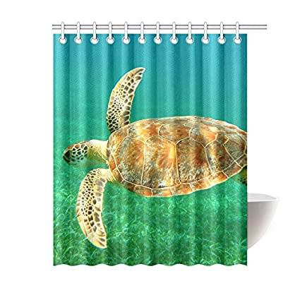 Image Unavailable Not Available For Color INTERESTPRINT Sea Turtle Shower Curtain