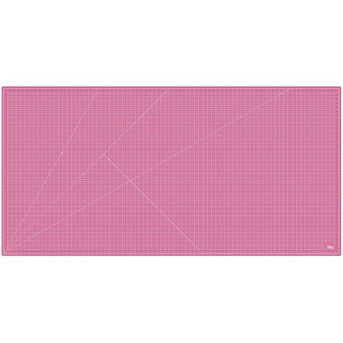 US Art Supply 40'' x 80'' PINK/BLUE Professional Self Healing 5-Ply Double Sided Durable Non-Slip PVC Cutting Mat Great for Scrapbooking, Quilting, Sewing and all Arts & Crafts Projects (Choose Green/Black or Pink/Blue Below) by US Art Supply