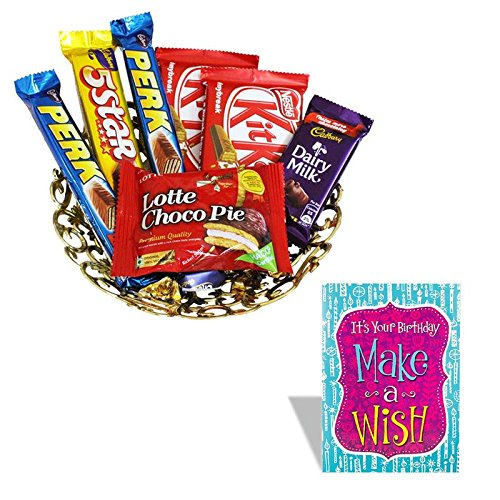 Happy Birthday Greeting Card With Chocolate Wishes Hamper Amazonin Grocery Gourmet Foods