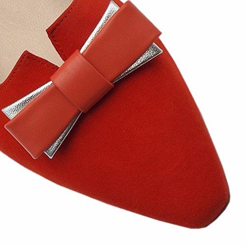 A Coral Souligné Red Bas Rouge En Tribunaux Corail Kaiser Talon Toe Leah Peter EUwxTPAqx