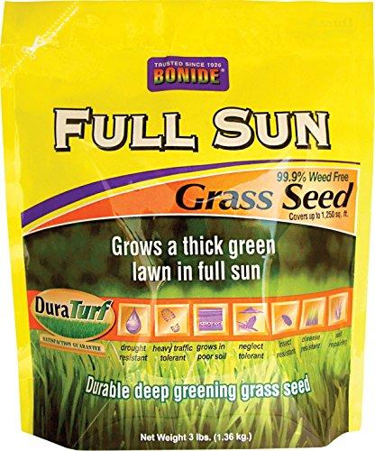 BONIDE GRASS SEED 60201 Full Sun Grass Seed, 3 lb