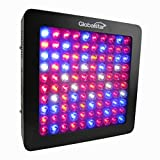 Global Star 100x6w Horticulture Full Spectrum LED Lights Grow Lights for Indoor Gardon Plant Growing Greenhouse, One Switch for Leaf,another for Flowering (Black, 13.28