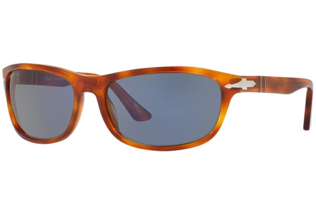 f81612adca Amazon.com  Persol PO3156S Sunglasses Havana w Blue Lens 9656 PO 3156-S   Clothing