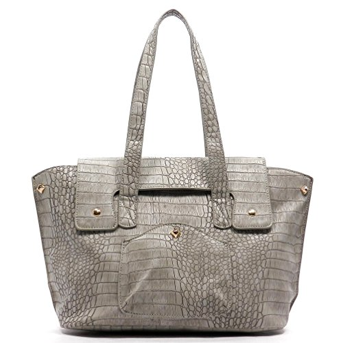 rodeo-no-184-weekender-oversize-leatherette-croc-satchel-ash-grey