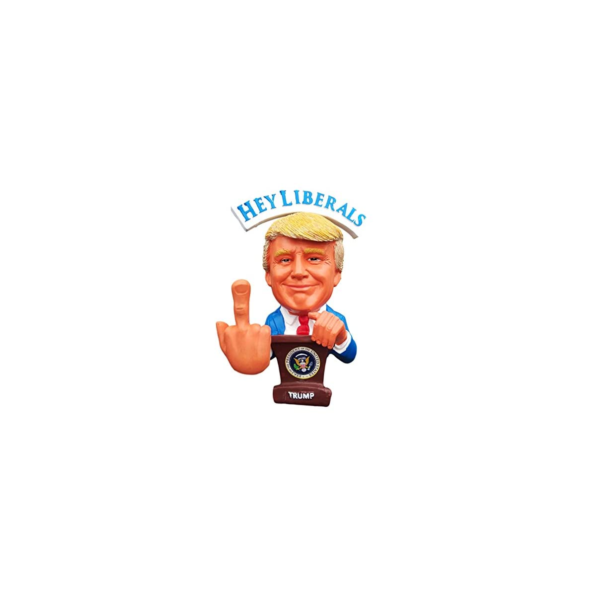 Donald Trump Doll – This Bobblehead Trump Has A Bobbling Middle Finger instead of head – F.U MEDIA/Liberals