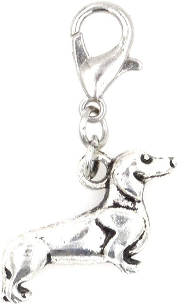 It's All About...You! Dachshund Weiner Dog Stainless Steel Clasp Clip on Charm 76P