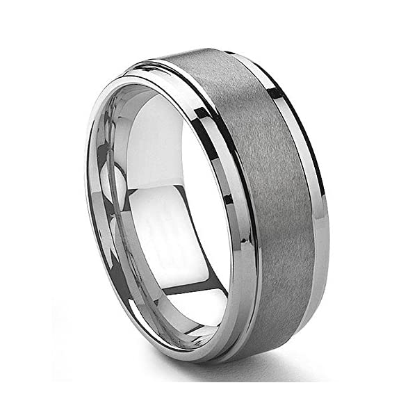 9mm tungsten metal men's wedding band ring in comfort fit and matte finish size 7-13.5 - 51c2ddswCHL - 9MM Tungsten Metal Men's Wedding Band Ring in Comfort Fit and Matte Finish Size 7-13.5