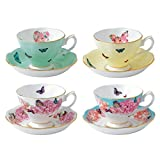Teacup & Saucer 4 Piece Set