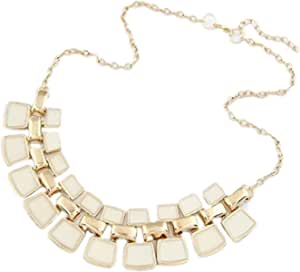 necklace for Women of metal Golden color with colored forms item NO 1124 - 1 - 4