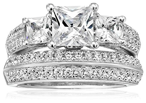 Sterling Silver and Cubic Zirconia Ring Set