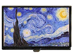Starry Night Vincent Van Gogh Business Card Case Holder USA Made