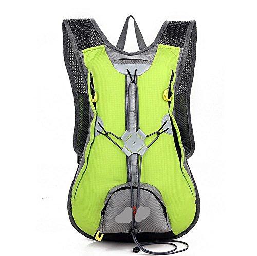 Xiuxiandianju L 15 al aire libre ciclismo mochila impermeables transpirable hombres y las mujeres calidad de mochila de senderismo mochila doble , red Green