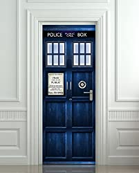 Tardis Bathroom Door Decal