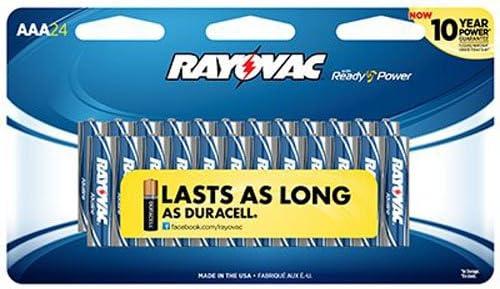 24-Pack Rayovac Alkaline AAA Batteries 824-24CF2