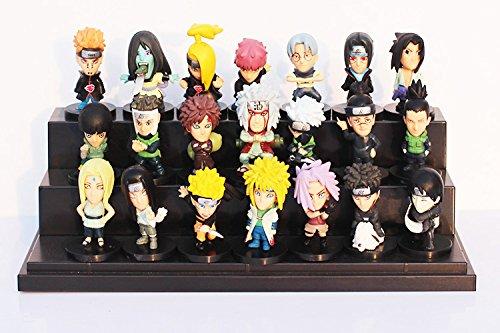 21pcs/set Japanese Anime Naruto PVC Action Figure Toys Gaara Uzumaki Sasuke Orochimaru Figures 5~6cm