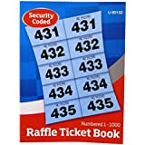 amazon com raffle tombola cloakroom ticket book 1 to 800