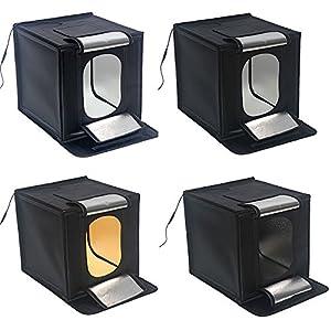 Hwamart led 60x60cm 24 mini foldable studio lightbox - Lightbox amazon ...