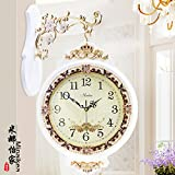 AYYA Creative wall clock garden clock wall clock quartz clock double-sided white