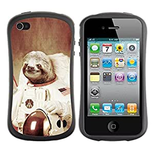 Suave TPU GEL Carcasa Funda Silicona Blando Estuche Caso de protección (para) Apple Iphone 4 / 4S / CECELL Phone case / / Moon Space Travel Art Tree Sloth Animal Cosmos /