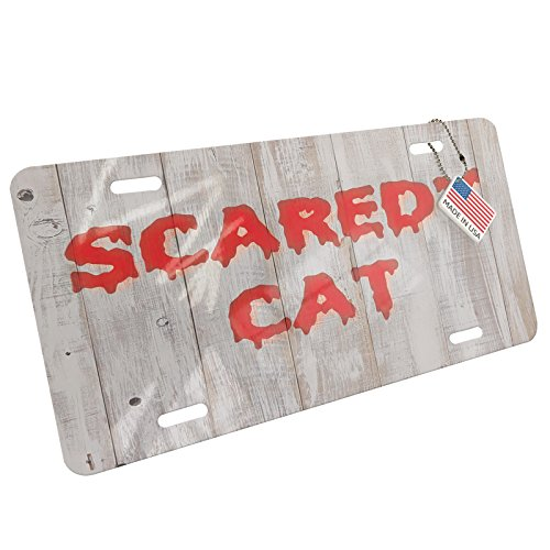 NEONBLOND Scaredy Cat Halloween Bloody Wall Aluminum License