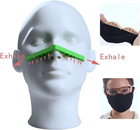 Anti Fog Nose Bridge Mask Strip Comfort Effective Washable Reusable Silicone Nose Bridge Pad Face Inner Support Frame Prevent Eyeglasses From Fogging Bracket 5 Packs