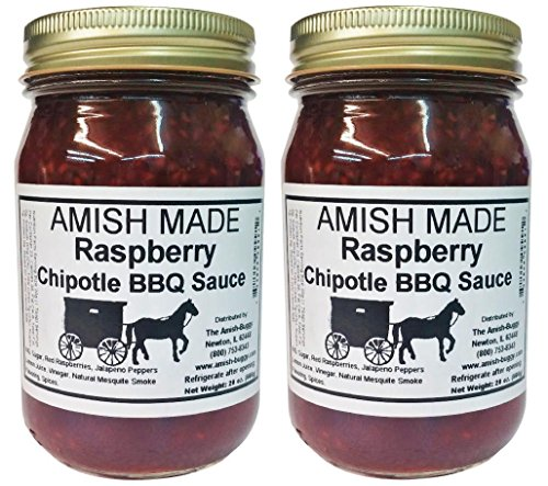 Amish Made BBQ Sauce (Raspberry Chipotle BBQ) (Raspberry Bbq Sauce)
