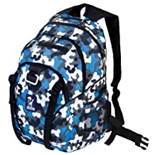 Wildkin Camo Serious Backpack, Blue