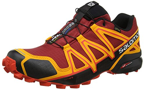 Salomon Herren Speedcross 4, Synthetik/Textil, Trailrunning-Schuhe rot / orange