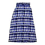 Design History Womens Foldover Waist Maxi Skirt Medium Catalina Blue Combo