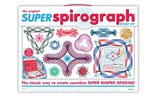 - Super Spirograph 75-piece Jumbo Kit (50th Anniversary Edition)