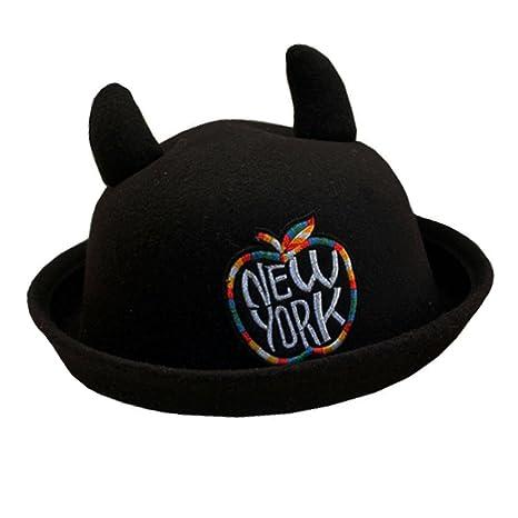 Sombrero elegante gorro de invierno sombrero bombín sombrero de ancho ala  sombrero para niña G 36000d5042f