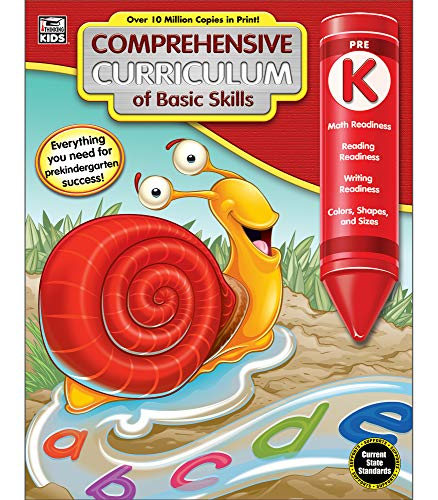 - Comprehensive Curriculum of Basic Skills Workbook for PreKindergarten, Paperback, 544 Pages, Paperback, Ages 4-5