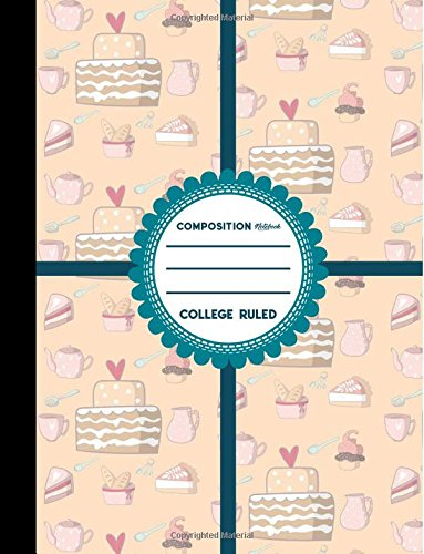 """Download Composition Notebook: College Ruled: Composition Notebook Blank Pages, Journal Book, School Composition Notebook, Cute Baking Cover, 8.5"""" x 11"""", 200 Pages, 100 Sheets (Volume 14) pdf"""
