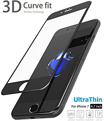 TOZO iPhone 7 Screen Protector Glass, [0.26mm] Ultrathin Premium Tempered Glass