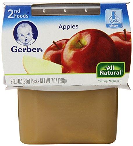 Gerber 2nd Foods Apple Sauce, 2 Count (Pack of 8) (Foods Applesauce)