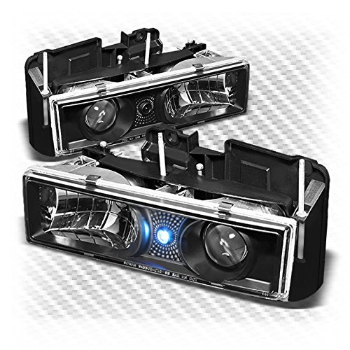 - Xtune 1988-1998 Chevy/GMC C/K Series, Suburban, 1995-1999 Tahoe Black Projector Headlights L+R Pair 1989 1990 1991 1992 1993