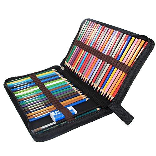 damero 48 colored pencil case pen holder travel. Black Bedroom Furniture Sets. Home Design Ideas