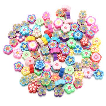 Slime Beads - Floam Beads For Slime - 100PCS DIY Slime Accessories Decor Fruit Cake Flower Polymer Clay Toy Nail Beauty Ornament - Beads For Slime - 03