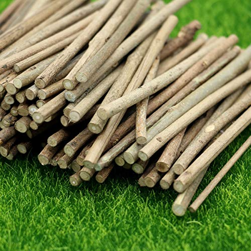 - AQUEENLY Log Sticks 100 PCS Natural Wooden Sticks for DIY Crafts Hamster, 4 Inches Long 0.2 Inch in Diameter