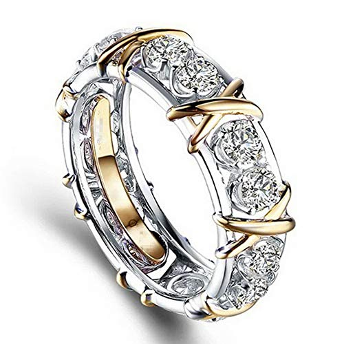 Endicot Infinity 925 Silver Women Wedding Rings White Sapphire Fashion Jewelry Size 6-10 | Model RNG - 5895 | 10
