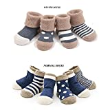 Cuca Dunna Infant Socks Baby Socks Toddler Socks For Girls And Boys Cute socks 4 Pairs The Socks For Baby,Toddler,Unisex Baby And Toddler. 4 Pattern Socks Choices, keep your baby warm with a fashionable look. 81% Cotton, 15% Nylon, 4% Spandex...