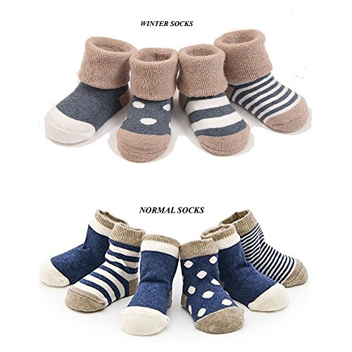 cuca-dunna-infant-baby-toddler-socks-for-girls-and-boyscute-socks-4-pairs-winter-xs-0-6months-blue