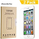 TIOVERY iPhone 6 Plus Screen Protector, Tempered Glass Screen Protector for Apple iPhone 6 Plus and iPhone 6s Plus (2-Pack)